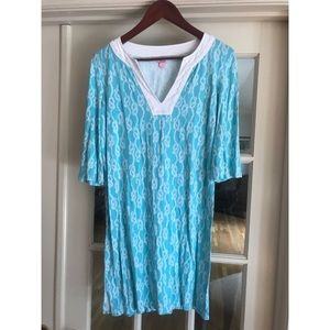 Lilly Pulitzer blue and white tunic dress
